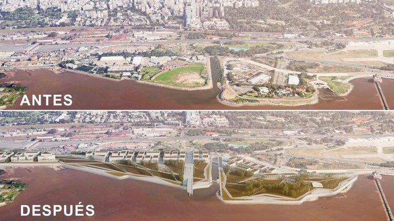 Objetan la pared de edificios que dividirá al Río de la Plata de la ciudad