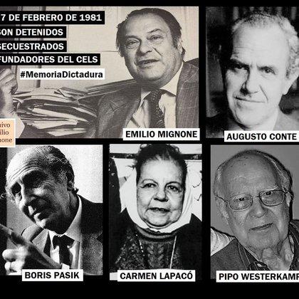 Mignone y Conte, pioneros del CELS