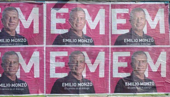 Monzó pidió no generar incertidumbre y se lanzó con un confuso afiche